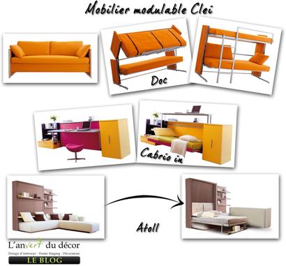 mobilier modulable pour petits espaces l 39 an vert du d cor. Black Bedroom Furniture Sets. Home Design Ideas