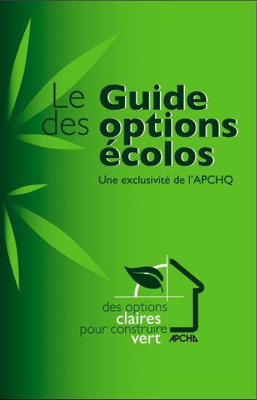 Le guide des options écolos