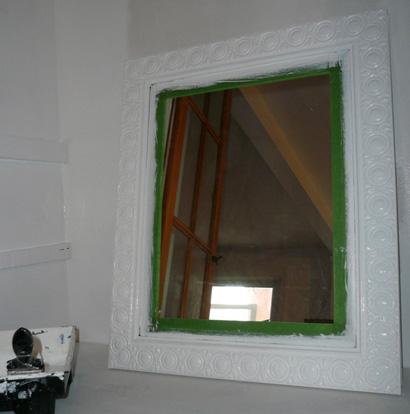 transformer un vieux miroir l 39 an vert du d cor. Black Bedroom Furniture Sets. Home Design Ideas