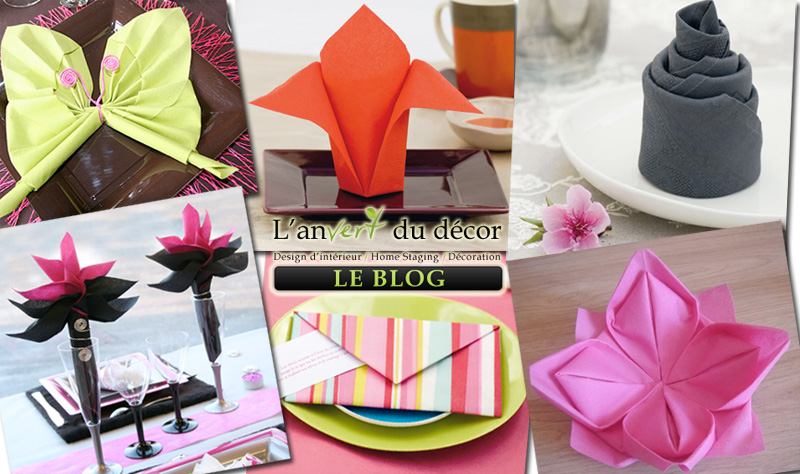 Pliage de serviettes de deux couleurs pictures to pin on - Pliages de serviettes pour noel ...