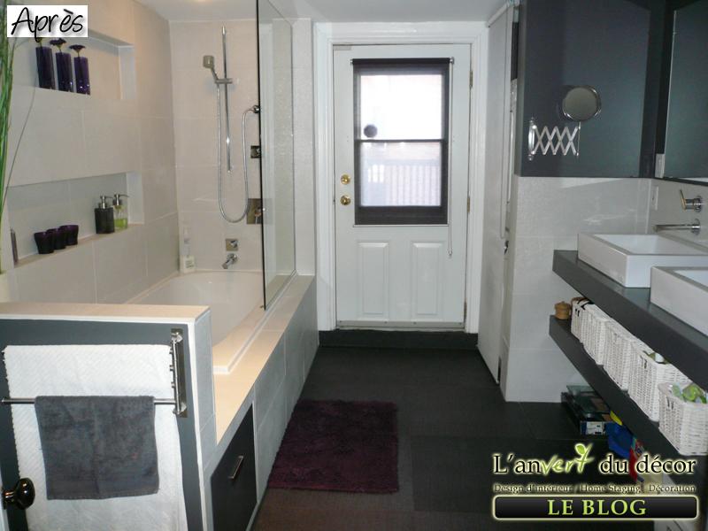 Mission nouvelle salle de bain suite et fin l 39 an vert du d cor for Petite baignoire profonde