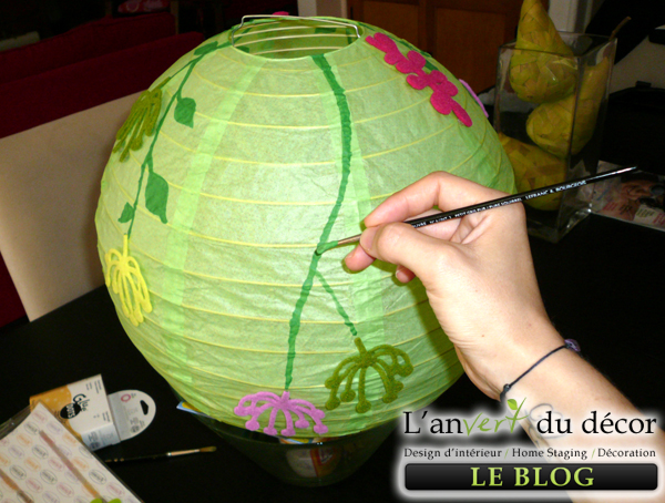 Awesome Customiser Lampadaire Ikea Peindre Lampe Papier