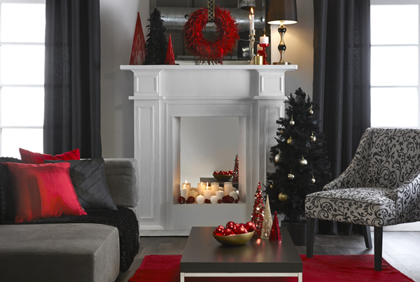 Bouclair Noel glam 2013 rouge-noir