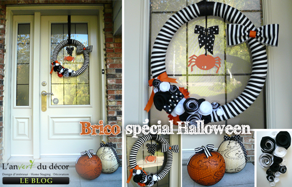 DIY couronne halloween