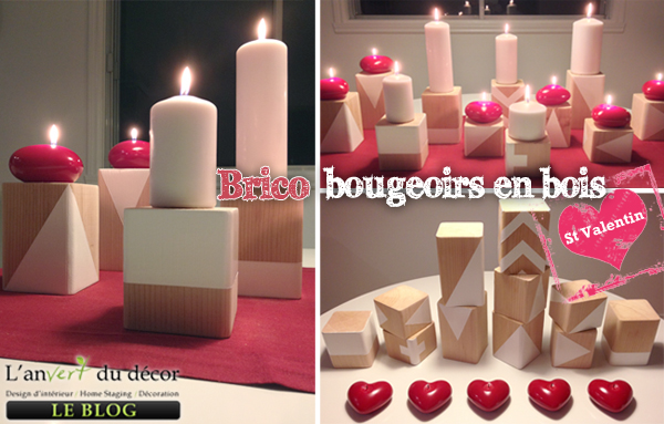diy saint valentin bougeoirs en c dre l 39 an vert du d cor. Black Bedroom Furniture Sets. Home Design Ideas