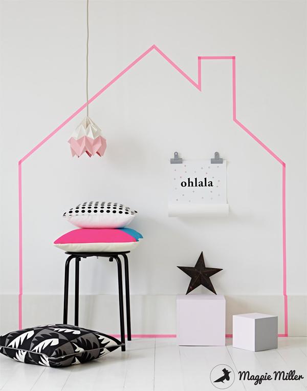 DIY chambre enfant washi tape