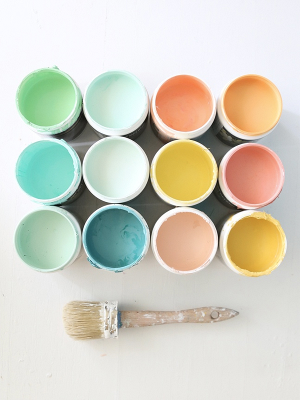 pots de couleur