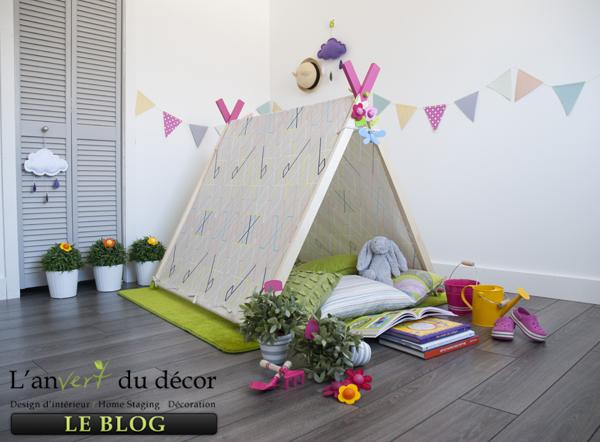 diy une tente ludique pour faire durer l 39 t l 39 an vert du d cor. Black Bedroom Furniture Sets. Home Design Ideas