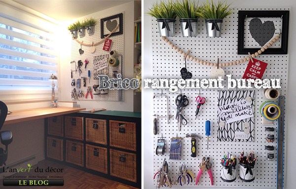 diy rangement d co vertical pour bureau l 39 an vert du d cor. Black Bedroom Furniture Sets. Home Design Ideas