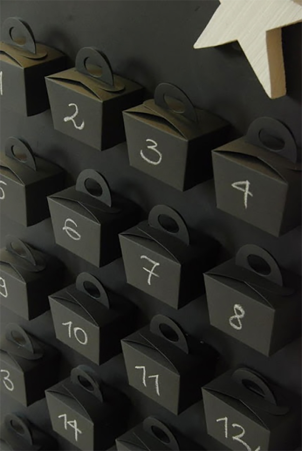 Graphic advent calendar