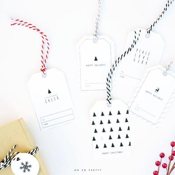 Graphic etiquettes cadeaux