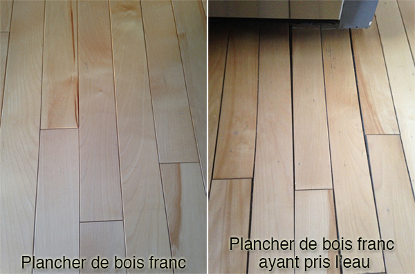 Plancher bois tordu
