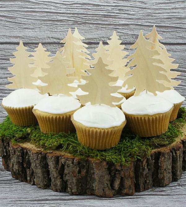 Rustic cupcake
