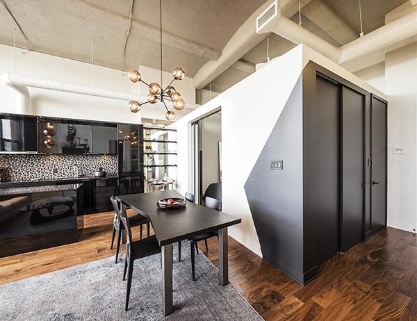 Loft salon-cuisine