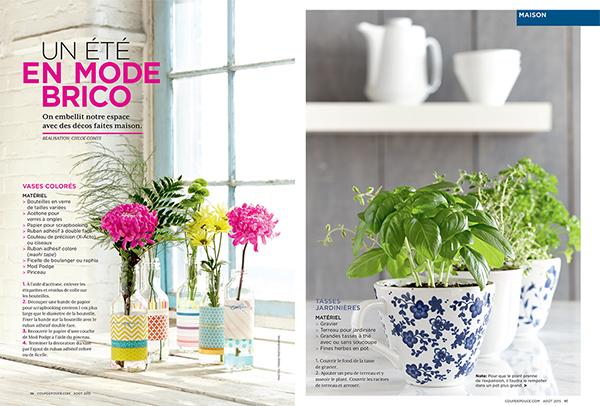Vases colores-tasses jardinieres