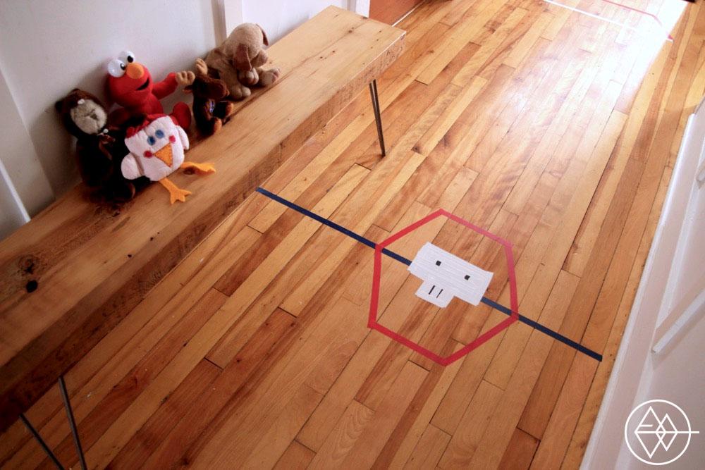 diy un jeu de mini hockey int rieur l 39 an vert du d cor. Black Bedroom Furniture Sets. Home Design Ideas