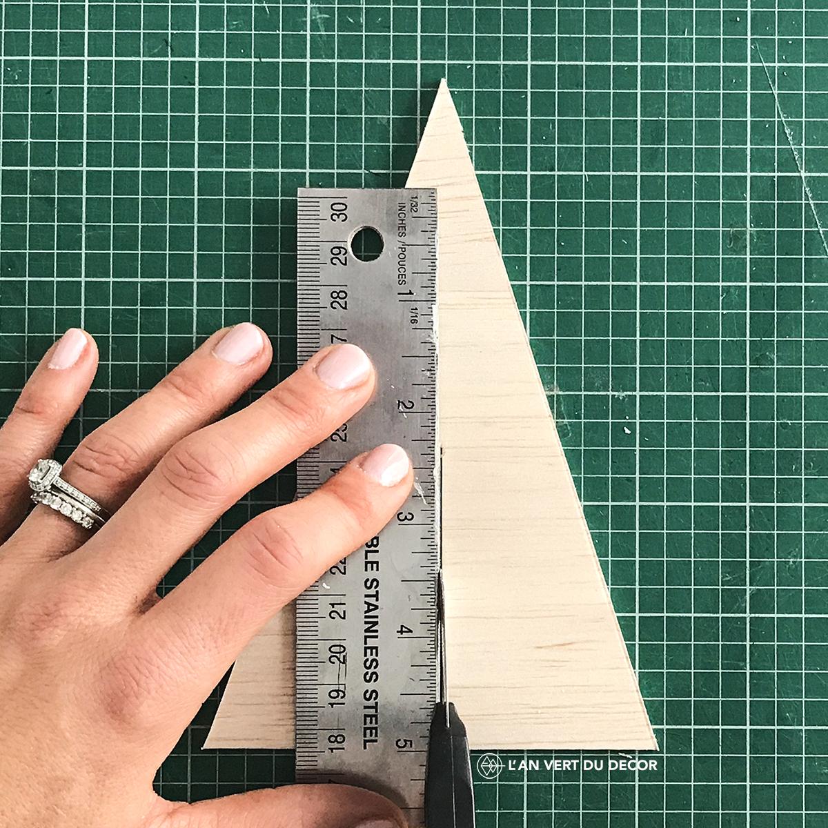 DIY - Sapins en balsa | AVDD | Chloé Comte