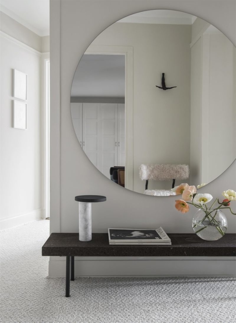 miroir dans l'entree