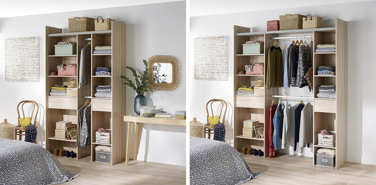 organisation comment am nager un walk in dressing de r ve l 39 an vert du d cor. Black Bedroom Furniture Sets. Home Design Ideas